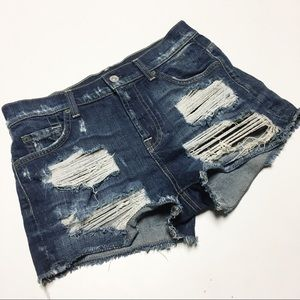 7 For All Mankind Distressed Jean Shorts Sz 26